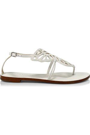 SOPHIA WEBSTER Women's Butterfly Glitter Thong Sandals - Glitter - Size 41 (11)
