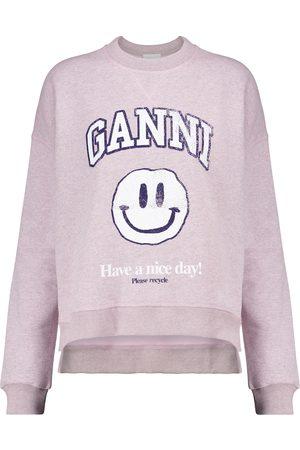 Ganni Isoli cotton-blend sweatshirt