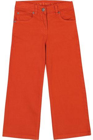 Stella McCartney Girls Stretch - Stretch-cotton wide-leg jeans