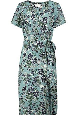 Velvet Women Printed Dresses - Rona floral wrap dress