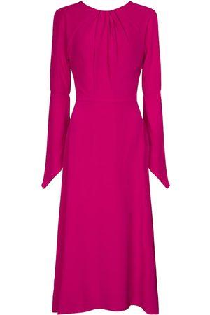 Victoria Beckham Women Midi Dresses - Open-back silk midi dress
