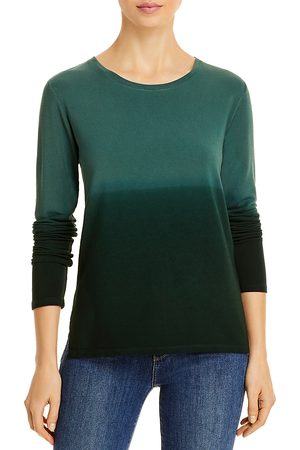 Majestic Ombre French Terry Crewneck Long Sleeve Tee