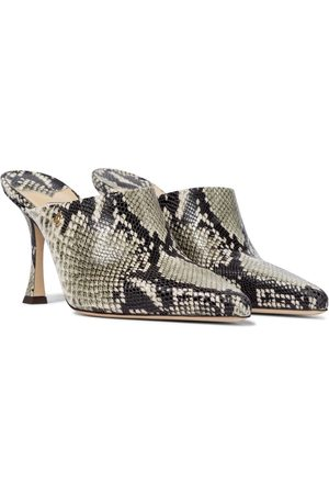 Jimmy Choo Rya 90 snake-effect leather mules