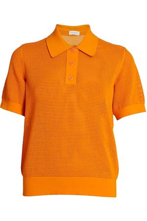 DRIES VAN NOTEN Women's Mesh Polo Shirt - - Size XS