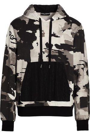 Dolce & Gabbana Men's Camouflage Logo Hoodie - Camouflage - Size 48 (38)