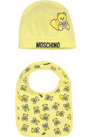 Moschino Stretch-cotton hat and bib set