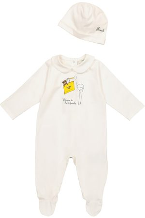 Fendi Baby stretch-cotton onesie and hat set