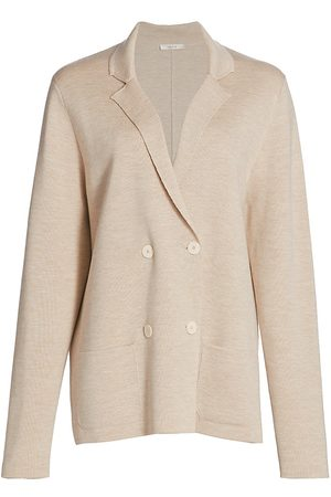 The Row Women Jackets - Women's Chopok Double Breasted Wool & Silk Jacket - Melange - Size XL