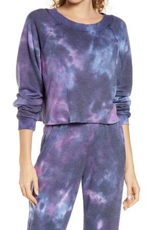 Oli Viv Women's Parker Tie Dye Crop Sweatshirt