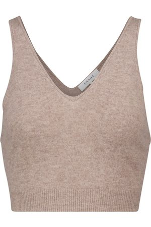 Frame Cashmere crop top