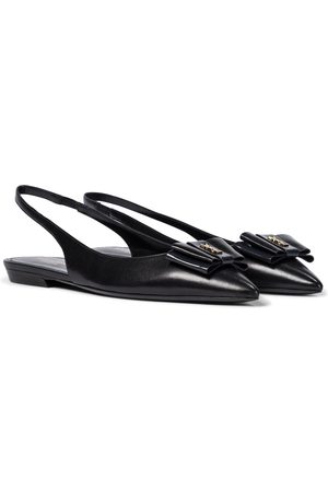 Saint Laurent Leather slingback ballet flats