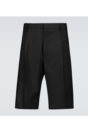 VALENTINO Men Bermudas - Wool and mohair bermuda shorts