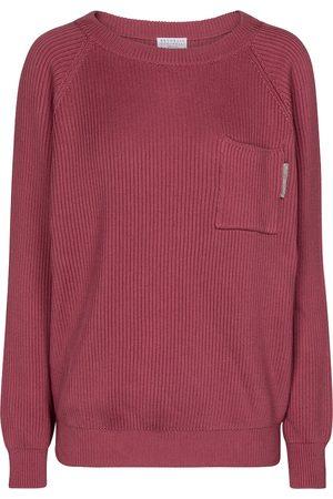 Brunello Cucinelli Women Sweaters - Embellished cotton sweater