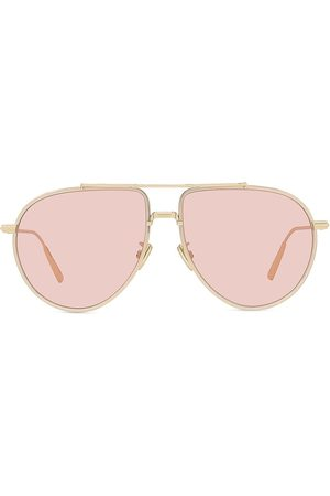 Dior Women Sunglasses - Women's 58MM BlackSuit Metal Pilot Sunglasses - Shiny