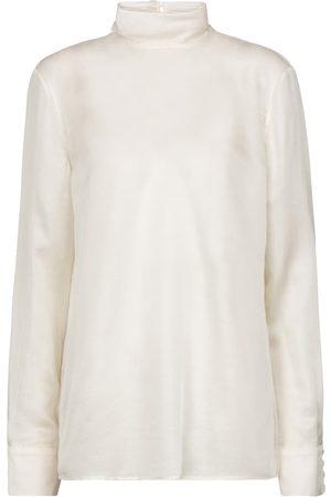GABRIELA HEARST Women Blouses - Bisti silk and cashmere blouse