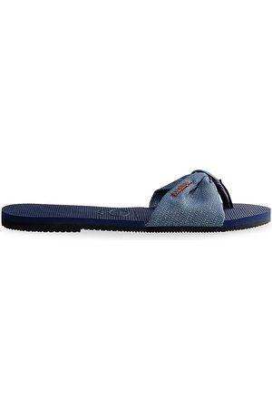 Havaianas Women's You St. Tropez Shine Flip Flops - Navy - Size 39/40