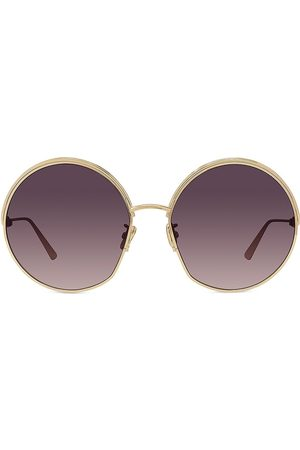 Dior Women's 61MM Ever Metal Round Sunglasses - Shiny