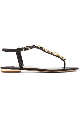 SOPHIA WEBSTER Women's Ritzy Embellished Leather Thong Sandals - - Size 40.5 (10.5)