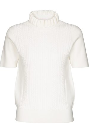 Chloé Women High Necks - Cable-knit turtleneck top