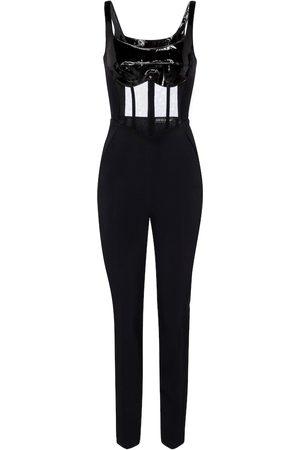 DAVID KOMA Women Jumpsuits - Cady and patent leather jumpsuit