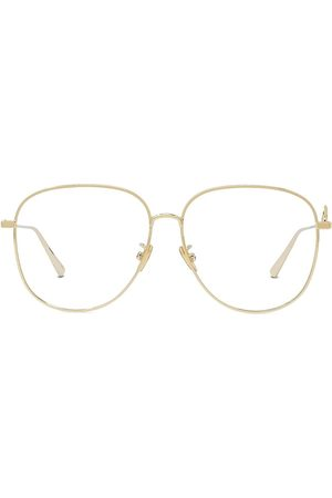 Dior Women's 57MM Signature Metal Aviator Eyeglasses