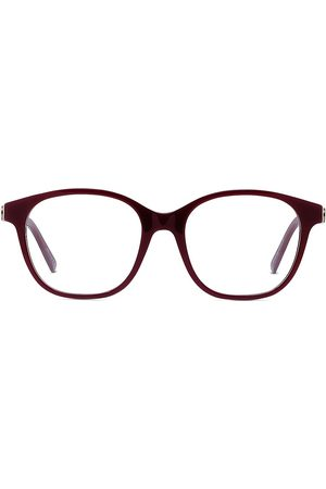Dior Women Square - Women's 53MM30Montaigne Square Eyeglasses - Shiny Bordeaux
