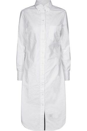 Thom Browne Women Midi Dresses - Cotton midi shirt dress