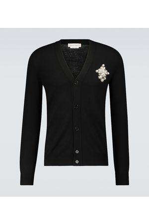Alexander McQueen Wool cardigan with brooch