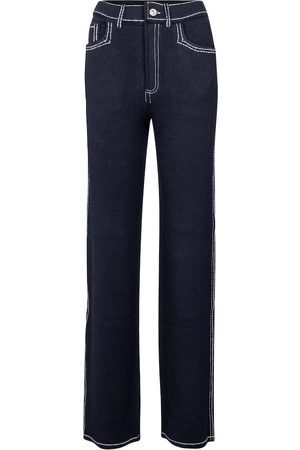 Barrie Straight cashmere-blend pants