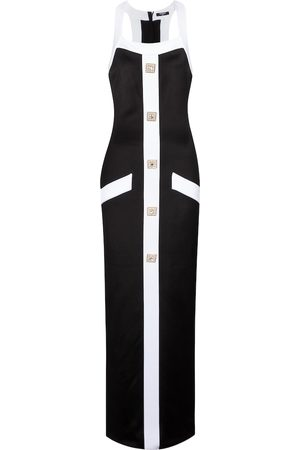Balmain Embellished jersey maxi dress