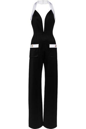 Balmain Women Jumpsuits - Jersey halterneck jumpsuit