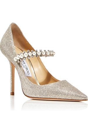 Jimmy Choo Women's Baily 100 High Heel Embellished Glitter Pumps