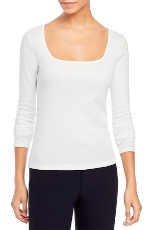 Vince Square Neck Long Sleeve Tee