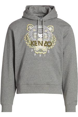 Kenzo Men's Classic Tiger Hoodie - Dove Grey - Size XL