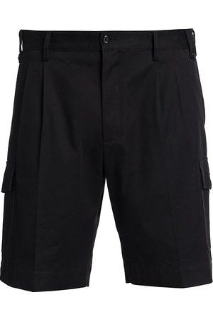 Dolce & Gabbana Men's Double Pleated Cargo Shorts - Nero - Size 54 (44)