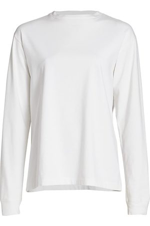 The Row Women Long sleeves - Women's Ciles Long Sleeve Cotton Top - - Size XS