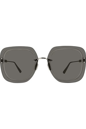 Dior Women's 65MM Ultra Metal Square Sunglasses - Shiny Smoke
