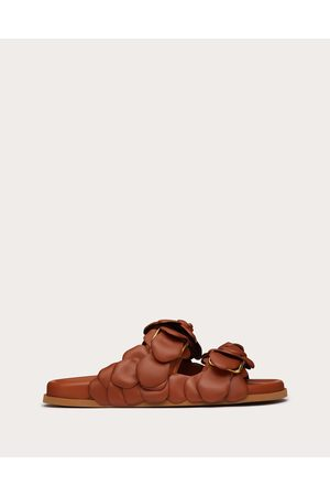 VALENTINO GARAVANI Atelier Shoes 03 Rose Edition Slide Sandal 35 Mm Women Tan 100% Pelle Di Vitello - Bos Taurus 37