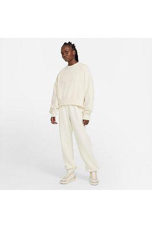 Nike Women Pants - Women's Sportswear Essential Fleece Jogger Pants in Off- /Coconut Milk