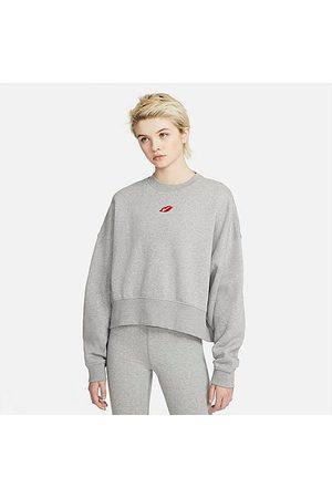 Nike Women's Sportswear Lips Crew Sweatshirt in Grey/Grey