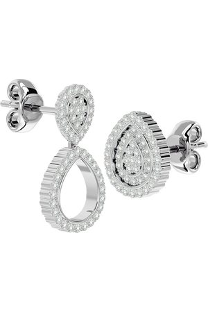 SuperJeweler 3/4 Carat Diamond Pear Shape Transformable Stud & Dangle Earrings in 14K (5 g) (G-H Color