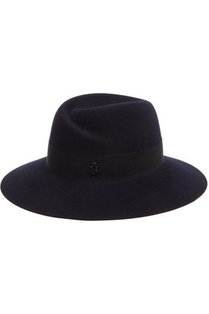 Le Mont St Michel Women Hats - Virginie Waterproof Felt Fedora Hat - Womens - Navy