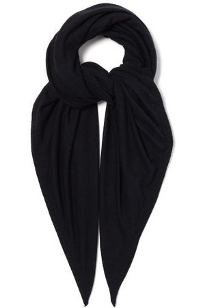 Raey Sheer Knitted Cashmere Scarf - Womens - Navy