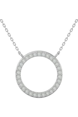 SuperJeweler Women Necklaces - 1/4 Carat Diamond Circle Necklace w/ Free Chain