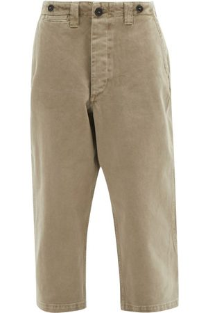 Raey Wide-leg Cotton-twill Chino Trousers - Womens - Khaki