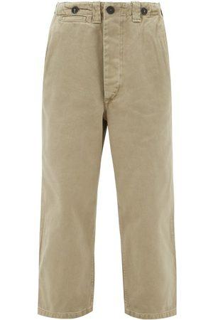 Women Chinos - Raey - Wide-leg Cotton-twill Chino Trousers - Womens - Khaki