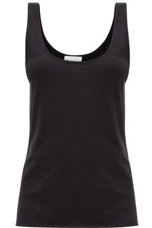 Raey Scoop-neck Cotton-blend Jersey Tank Top - Womens