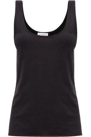 Raey Women Tank Tops - Scoop-neck Cotton-blend Jersey Tank Top - Womens