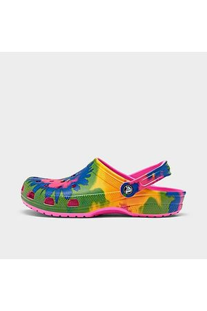 Crocs Clogs - Classic Tie-Dye Graphic Clog Shoes in /Electric