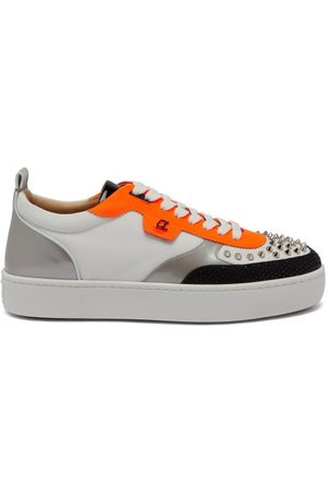 Christian Louboutin Happyrui Mesh And Leather Trainers - Mens - Multi